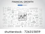 financial growth concept with... | Shutterstock .eps vector #726315859