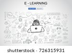 e learning concept with... | Shutterstock .eps vector #726315931