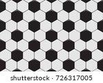 black and white soccer ball... | Shutterstock .eps vector #726317005