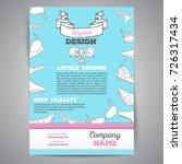 lingerie brochure illustration. ... | Shutterstock . vector #726317434