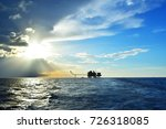oil rig with oil and gas... | Shutterstock . vector #726318085