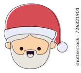 santa claus man kawaii face...   Shutterstock .eps vector #726321901