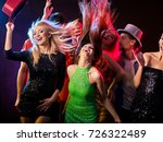 dance party with group people... | Shutterstock . vector #726322489