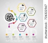 food delivery timeline... | Shutterstock .eps vector #726322567