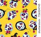 seamless pattern of cartoons... | Shutterstock .eps vector #726324745