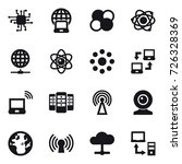 16 vector icon set   chip ... | Shutterstock .eps vector #726328369