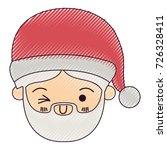 santa claus man kawaii face...   Shutterstock .eps vector #726328411