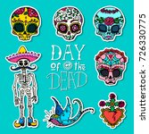 dia de los muertos   day of the ... | Shutterstock .eps vector #726330775