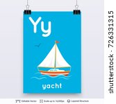 letter y and yacht picture.... | Shutterstock .eps vector #726331315
