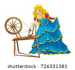 cartoon beautiful girl smiling... | Shutterstock . vector #726331381