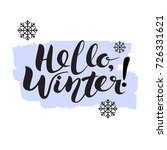 hello winter hand lettering...   Shutterstock .eps vector #726331621