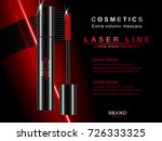 mascara ads. cosmetic template... | Shutterstock .eps vector #726333325