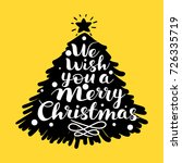 we wish you a merry christmas...   Shutterstock .eps vector #726335719