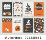 vector halloween greeting card  ... | Shutterstock .eps vector #726335851