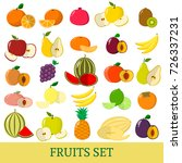 a set of fruits . organic... | Shutterstock .eps vector #726337231