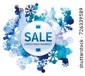 christmas market  seasons sale  ... | Shutterstock . vector #726339589