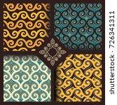 set of four seamless patterns...