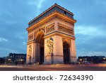 Arc De Triomphe In Paris ...