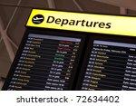 airport flight information on a ... | Shutterstock . vector #72634402