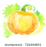 pumpkin background. vintage... | Shutterstock . vector #726344851