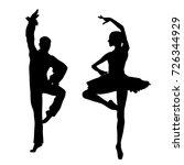 couple ballet dancers | Shutterstock .eps vector #726344929