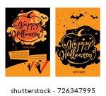 happy halloween set for poster | Shutterstock .eps vector #726347995