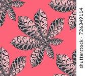 chestnut leaves. seamless... | Shutterstock .eps vector #726349114