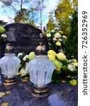 Small photo of The All Saints day on the cemetery in Sobieszewo, Poland. 1st November 2012