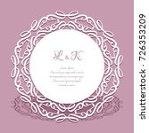 round doily with lace border ... | Shutterstock .eps vector #726353209