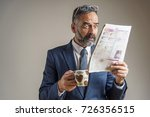 worried and anxious senior... | Shutterstock . vector #726356515