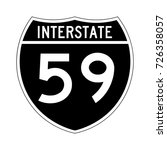 interstate highway 59 road sign ... | Shutterstock .eps vector #726358057