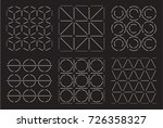 set of geometrical line patterns | Shutterstock .eps vector #726358327