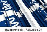 fragment flag of martinique. 3d ... | Shutterstock . vector #726359629
