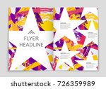 abstract vector layout... | Shutterstock .eps vector #726359989