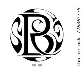 monogram r b  b r