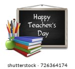 teachers day vector card.... | Shutterstock .eps vector #726364174