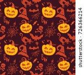 halloween vector seamless... | Shutterstock .eps vector #726366214