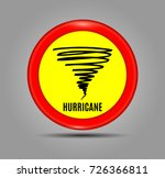 stormy weather ahead sign board ... | Shutterstock .eps vector #726366811