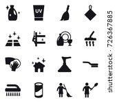 16 vector icon set   cleanser ... | Shutterstock .eps vector #726367885