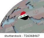 iraq on political globe with... | Shutterstock . vector #726368467