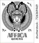 Vector Image Dog In The Africa...