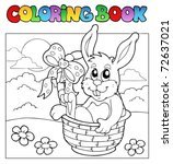 Coloring Book With Bunny In...