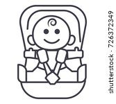 baby in car  security chair...