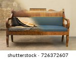 antique biedermeier style sofa... | Shutterstock . vector #726372607