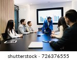 picture of business seminar in... | Shutterstock . vector #726376555