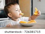 beautiful baby boy in the... | Shutterstock . vector #726381715
