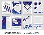 abstract vector layout... | Shutterstock .eps vector #726382291