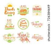 set of thanksgiving badges...   Shutterstock .eps vector #726384649