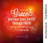 by grace you have been saved... | Shutterstock .eps vector #726386014