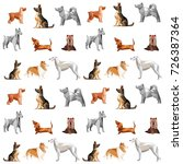 seamless vector pattern with... | Shutterstock .eps vector #726387364